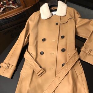 Gorgeous Leather trench coat by Coach. NWT- size 6